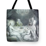 Christ In The House Of Martha And Mary Or The Penitent Magdalene Tote Bag by William Blake