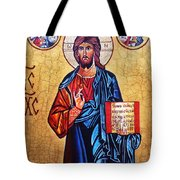Christ The Pantocrator Tote Bag by Ryszard Sleczka