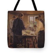 Christ with the Peasants Tote Bag by Fritz von Uhde