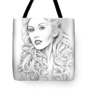 Christina Aguilera Tote Bag by Murphy Elliott