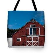 Christmas Barn Tote Bag by Edward Fielding