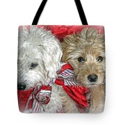 Christmas Puppy Tote Bag by Bob Hislop