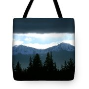 Chugach Mountains Tote Bag by Crystal Magee