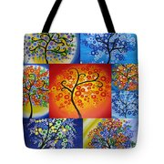 Circle Trees Tote Bag by Cathy Jacobs