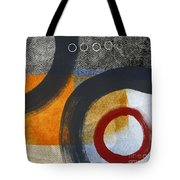 Circles 3 Tote Bag by Linda Woods
