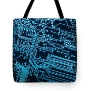 Circuit Board Tote Bag by Carlos Caetano