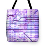 Circuit Trace Tote Bag by Jerry McElroy