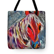 Cisco Abstract Horse  Tote Bag by Janice Rae Pariza