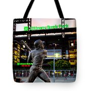 Citizens Bank Park - Mike Schmidt Statue Tote Bag by Bill Cannon