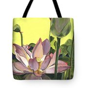 Citron Lotus 2 Tote Bag by Debbie DeWitt