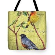 Citron Songbirds 2 Tote Bag by Debbie DeWitt