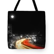 City And The Moon Tote Bag by Taylan Soyturk