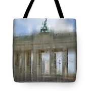 City-Art BERLIN Brandenburg Gate Tote Bag by Melanie Viola