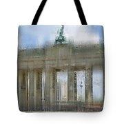 City-art Berlin Brandenburg Gate Tote Bag by Melanie Viola