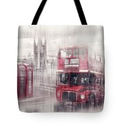 City-art London Westminster Collage II Tote Bag by Melanie Viola