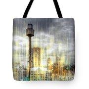 City-art Sydney Rainfall Tote Bag by Melanie Viola