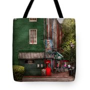 City - Baltimore - Fells Point Md - Bertha's And The Greene Turtle Tote Bag by Mike Savad