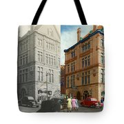 City - Chattanooga TN - 1943 - The Masonic Temple - BOTH Tote Bag by Mike Savad