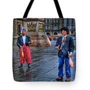 City Jugglers Tote Bag by Ron Shoshani