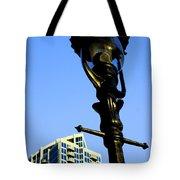 City Lamp Post Tote Bag by Karol Livote