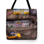 City - New York - Greenwich Village - Life's Color Tote Bag by Mike Savad