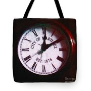 City of Martinez California Town Clock - 5D20862 - Painterly Tote Bag by Wingsdomain Art and Photography