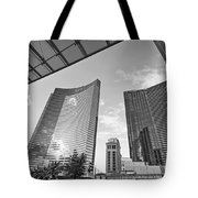 Citycenter - View Of The Vdara Hotel And Spa Located In Citycenter In Las Vegas  Tote Bag by Jamie Pham