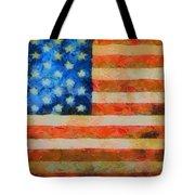 Civil War Flag Tote Bag by Dan Sproul