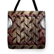 Civilian Jeep- Maroon Tote Bag by Luke Moore