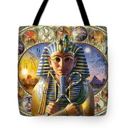 Cleo Tut Neffi Triptych Tote Bag by Andrew Farley