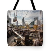 Cleveland From The Deck Of The Peacemaker Tote Bag by Dale Kincaid