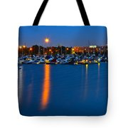Cleveland Ohio Skyline Tote Bag by Frozen in Time Fine Art Photography