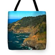 Cliffs At Cape Foulweather Tote Bag by Adam Jewell