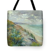 Cliffs By The Sea At Trouville  Tote Bag by Gustave Caillebotte
