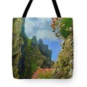 Cliffside Sea Thrift Tote Bag by Jeff Kolker