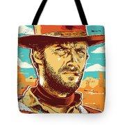 Clint Eastwood Pop Art Tote Bag by Jim Zahniser