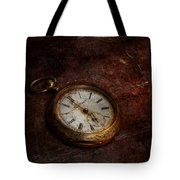 Clock - Time waits Tote Bag by Mike Savad