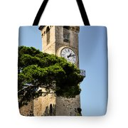 Clock Tower - Cannes - France Tote Bag by Christine Till