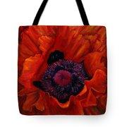 Close Up Poppy Tote Bag by Billie Colson