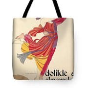 Clotilde And Alexandre Sakharoff Tote Bag by George Barbier
