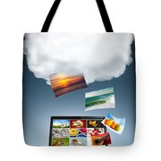 Cloud Technology Tote Bag by Carlos Caetano