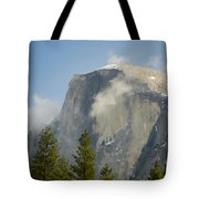 Clouds Around Half Dome  Tote Bag by Jim and Emily Bush