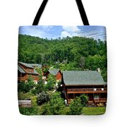 Cluster Cottages Tote Bag by Frozen in Time Fine Art Photography