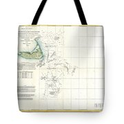 Coast Survey Map of Nantucket and the Davis Shoals Tote Bag by Paul Fearn
