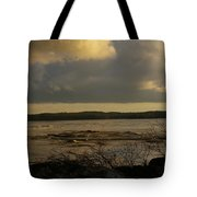 Coastal Winters Afternoon 3 Tote Bag by Amy-Elizabeth Toomey