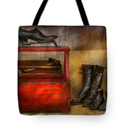 Cobbler - Life of the cobbler Tote Bag by Mike Savad