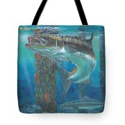 Cobia Strike In0024 Tote Bag by Carey Chen