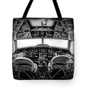 cockpit of a DC3 Dakota Tote Bag by Paul Fell
