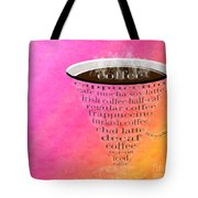 Coffee Cup The Jetsons Sorbet Tote Bag by Andee Design