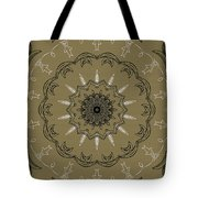Coffee Flowers 3 Olive Ornate Medallion Tote Bag by Angelina Vick